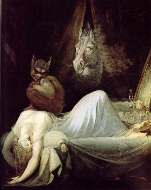 Henry Fuseli, The Nightmare, 1802, oil on canvas.  Freies Deutsches Hochstift, Goethemuseum